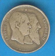 Monnaies ) Belgique - 1fr Leopald 1er / Leopold II - 1830 / 1880 - Argent - 1831-1865: Léopold I