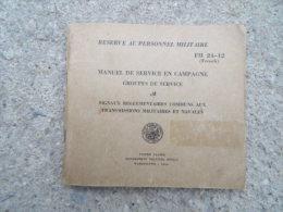 TM FM Manuel Technique Americain US Groupes De Service Signaux Communs Aux Transmissions Militaire Navale Ww2 Daté 1944 - 1939-45