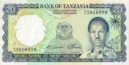 Tanzania 20 Shillings 1966 Pick 3e UNC - Tanzania