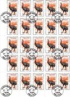 Madagascar 1994 : Feuille de 25 timbres oblit�r�es N� 1338. Animaux Pr�historiques.