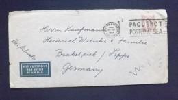 Grossbritannien 290 Luftpostbrief Nach Deutschland Ts 29.Sep.1960 Southampton Paquebot - 1952-.... (Elisabeth II.)