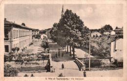 ITALIE VITO AL TAGLIAMENTO VIA MARCONI CIRCULEE 1952 - Autres Villes
