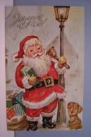 PERE NOEL -CHIEN - JOYEUX  NOEL(  N° 32 ) - Santa Claus