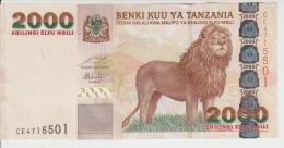 Tanzania 2000 Shillings 2003 Pick 37 Sign15 UNC - Tanzania
