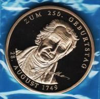GOETHE ZUM 250. GEBURTSTAG 28 AUGUST 1749  Medaille 1999 PROOF - Royaux/De Noblesse