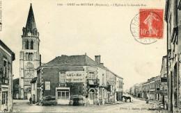 CPA 53 GREZ EN BOUERE L EGLISE ET LA GRANDE RUE 1907 - France