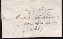 Enveloppe Marque Postale 1832 Pour Cusset Lapalisse Allier - 1801-1848: Precursors XIX