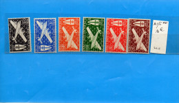 INDE-Colonie Fse--Série Avion Neufs** Sans Charnière N° 1-6 Cote 10 Eu Présentée Recto Verso - India (1892-1954)