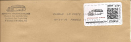 Vignette Autocars Anciens De France 2015 Sur Lettre Assortie (thèmes Transports, Voitures Anciennes) - 2010-... Illustrated Franking Labels