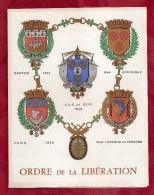 3 CARTES ORDRE DE LA LIBERATION