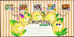 1996. COURTESY FDC 10.7.96.  (Michel: 800-804) - JF127019 - Singapore (1959-...)