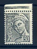 FRANCE 1938 VARIETE N° 412 NOIR AU LIEU DE ROUGE ** MNH