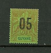 """GUYANE FRANCAISE   1912   N° 68   """" Timbre De 1892 Surchargé """"     Neuf Avec Trace De Charnière - Guyane Française (1886-1949)"""