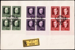1937. 4X 20 + 4X 24 + 4X 30 Gr. TAG DER BRIEFMARKE 5.XII. 37.  (Michel: 652-654) - JF124289 - FDC