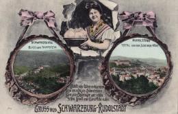 GRUSS Aus SCHWARZBURG - RUDOLSTADT  - CARTE POSTALE ANCIENNE / OLD POSTCARD ~ 1910 - 1920 (r-402) - Rudolstadt