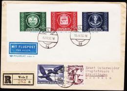 1950. UPU BLOCK WELS 15.XII.50.  (Michel: 943-945 BLOCK) - JF124288 - FDC