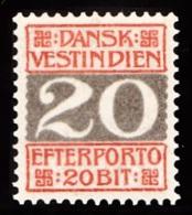 1905. Numeral Type.  20 Bit Red/grey (Michel: P6A) - JF103467 - Dänisch-Westindien