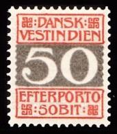 1905. Numeral Type. 50 Bit Red/grey (Michel: P8A) - JF103471 - Dänisch-Westindien