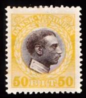 1915-1916. Chr. X. 50 Bit Brown/yellow. (Michel: 56) - JF103473 - Dänisch-Westindien