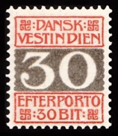 1905. Numeral Type.  30 Bit Red/grey (Michel: P7A) - JF103469 - Dänisch-Westindien