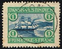 1905. St. Thomas Harbour. 1 Fr. Blue/green. (Michel: 35) - JF153380 - Dänisch-Westindien