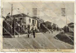 CARTOLINA FORMATO GRANDE DI  SAN GIULIANO A MARE VILLA TORQUATI RIMINI ANIMATA VIAGGIATA - Rimini