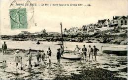 Belle Carte -Bourg De Batz -  Le Port A Marée Basse Et La Grande Cote  ,animée                         A624 - Batz-sur-Mer (Bourg De B.)