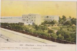 CARTE POSTALE ANCIENNE,SUDAN,SUDAN,EN 1906,VILLE FONDEE PAR MEHEMET ALI,NIL BLANC,PALAIS DU GOUVERNEMENT,2 TIMBRES EGYPT - Soudan