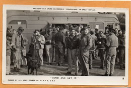 American Red Cross Clubmobile Somwhere In UK 1944 Real Photo Postcard - Guerre 1939-45