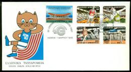 Griekenland Hellas FDC 1985 Indoor Athletics Championship Zonder Adres - FDC