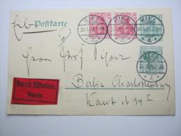 1909, Eilganzsache  Aus Kiel - Deutschland
