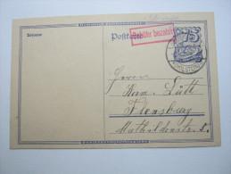 1923, OLDENBURG , Teil Gebühr Bezahlt Karte - Briefe U. Dokumente