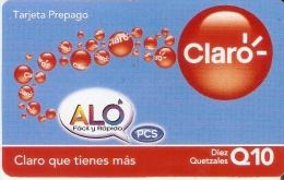 TARJETA ALO-CLARO DE 10 QUETZALES DE GUATEMALA - Guatemala