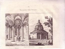 1837 - Gravure Sur Cuivre - Riez, Temple Circulaire - FRANCO DE PORT - Prints & Engravings
