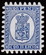 1866-1874. Coat Of Arms. Penni & Mark. Roulette IV (shovel-shaped) Official REPRINT 189... (Michel: 8 Na) - JF100552 - Used Stamps