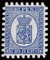1866-1874. Coat Of Arms. Penni & Mark. Roulette IV (shovel-shaped) Official REPRINT 189... (Michel: 8 Na) - JF100552 - Oblitérés