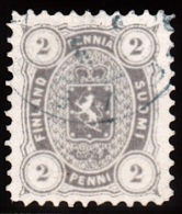 1875-1882. Coat Of Arms. Perf. L 11. 2 PENNI Grey. (Michel: 12 Ay B) - JF100648 - 1856-1917 Administration Russe