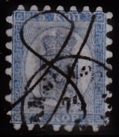 1860. Russian Values. 5 KOP. Blue. Roulette Dept. 1-1.5 Mm. (Wave Shaped). Handwritten ... (Michel: 3A) - JF100630 - 1856-1917 Administration Russe