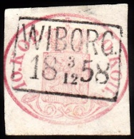 1856. Coat Of Arms. 10 KOP. Carmine. Fantastic Cancel  WIBORG 3 12 1858. Thin Spot. (Michel: 2x) - JF100603 - 1856-1917 Administration Russe