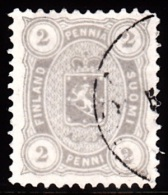 1875-1882. Coat Of Arms. Perf. L 12½. 2 PENNI Grey. (Michel: 12 Bya) - JF100652 - 1856-1917 Administration Russe