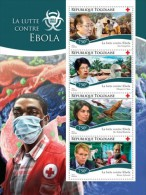 Togo 2014 Ebola Virus Red Cross Medicine S/S TG14712 - Unclassified