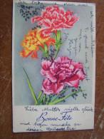 CPA. Bonne Fête BOUQUET DE FLEURS OEILLET écrite En Allemand Recto Verso 1948 CHARME - Feiern & Feste