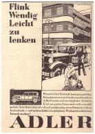 Original Werbung - 1930 - ADLER Favorit - Krankenwagen , Oldtimer !! - KFZ