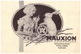 Original Werbung - 1930 - Mauxion Schokolade , Cacao , Pralinen , Osterhase , Ostern !!! - Ostern