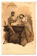 CPA -  Illustrateur Cascella - Femme, Satan & Billard - Carte Rare - Illustrateurs & Photographes