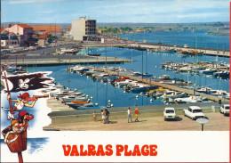 --  34 --  VALRAS  -- LE NOUVEAU PORT DE PLAISANCE -- VOITURE CITROEN  DS - Autres Communes