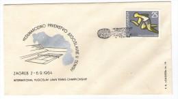 YUGOSLAVIA JUGOSLAVIJA COMMEMORATIVE COVER POSTMARK 1964 ZAGREB TENIS TENNIS INTERNATIONALCHAMPIONSHIP - Briefe U. Dokumente