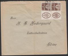 1927-1930. Wavy-line. Block Of Four With HAFNIA + 5 øre Brown And DANSKE PHØNIX + 5 øre... (Michel: R 1 + R 2) - JF17113 - Abarten Und Kuriositäten