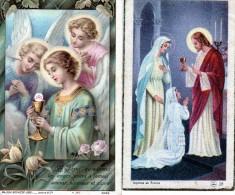 2 SOUVENIR DE COMMUNION  1944   ET 1945 - Religion & Esotericism