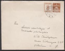 1931-1933. Wavy-line. ALFRED BENZON BAGEPULVER (Swan) + 10 øre Yellowbrown On Cover Fro... (Michel: R 58) - JF171279 - Abarten Und Kuriositäten